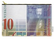 10 Swiss Franc Bill Carry-all Pouch