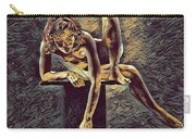1003s-zac Necklace Of Bones Held By Beautiful Nude Dancer Carry-all Pouch