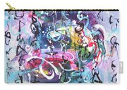 Abstract Calligraphy Carry-all Pouch