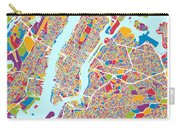 New York City Street Map Carry-all Pouch
