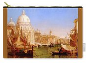 selous Henry Courtney A View Along The Grand Canal With Santa Maria Della Salute Henry Courtney Selous Carry-all Pouch