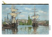 Ships Riding On The Seine At Rouen Carry-all Pouch