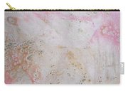 11. V2 Pink And Cream Texture Glaze Painting Carry-all Pouch