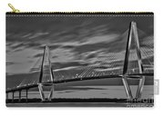 Ravenel Bridge Black And White Sunset Carry-all Pouch