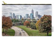 Charlotte City North Carolina Cityscape During Autumn Season Carry-all Pouch