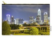 Downtown Of Charlotte  North Carolina Skyline Carry-all Pouch