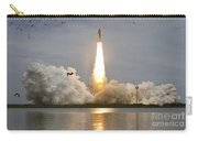 Space Shuttle Atlantis Lifts Carry-all Pouch by Stocktrek Images