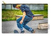 skate park day, Skateboarder Boy In Skate Park, Scooter Boy, In, Skate Park Carry-all Pouch