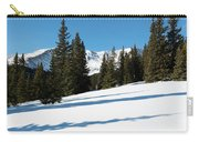 Summit Of Mount Elbert Colorado In Winter Carry-all Pouch