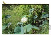 White Lotus Flower Flower Lotus Nature Summer Green Plant Blossom Asian Carry-all Pouch