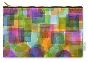 Befriended Squares And Bubbles Carry-all Pouch