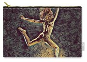 1307s-dancer Leap Fit Black Woman Bare And Free Carry-all Pouch