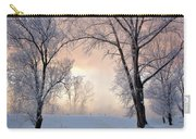 Amazing Landscape With Frozen Snow Covered Trees At Sunrise   Carry-all Pouch