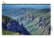 Hawksbill Mountain At Linville Gorge With Table Rock Mountain La Carry-all Pouch