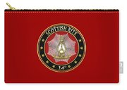 14th Degree - Perfect Elu Jewel On Red Leather Carry-all Pouch