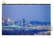 Buildings In A City Lit Up At Dusk Carry-all Pouch