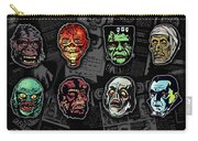 16 Horror Movie Monsters Vintage Style Classic Horror Movies  Carry-all Pouch