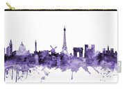 Paris France Skyline Carry-all Pouch