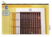 Wooden Door In Old San Juan, Puerto Rico Carry-all Pouch