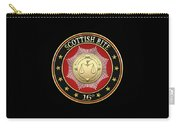16th Degree - Prince Of Jerusalem Jewel On Black Leather Carry-all Pouch