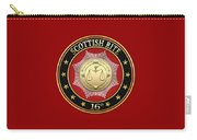 16th Degree - Prince Of Jerusalem Jewel On Red Leather Carry-all Pouch