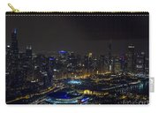 Chicago Night Skyline Aerial Photo Carry-all Pouch