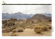 Rocks, Mountains And Sky At Alabama Hills, The Mobius Arch Loop  Carry-all Pouch