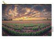 180 Degree View Of Sunrise Over Tulip Field Carry-all Pouch
