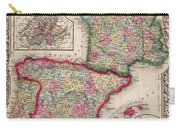 1800s France, Spain And Portugal County Map Color Carry-all Pouch