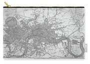 1800s London Map Black And White London England Carry-all Pouch
