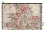 1800s Wales County Map Wales England Color Carry-all Pouch