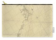 1807 North America Coastline Map Carry-all Pouch