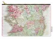 1818 Pinkerton Map Of Ireland Carry-all Pouch