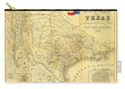 1849 Texas Map Carry-all Pouch