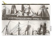 1850 European Sailing Ship Carry-all Pouch