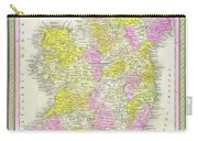 1850 Vintage Map Of Ireland Carry-all Pouch
