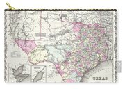 1855 Texas Map Carry-all Pouch