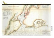 1857 Coast Survey Map Of New York City And Harbor Carry-all Pouch