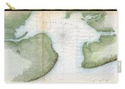 1857  Coast Survey Map Of St. Louis Bay And Shieldsboro Harbor, Mississippi  Carry-all Pouch