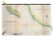 1857  Coast Survey Map Of The Eastern Entrance To Santa Barbara Channel Carry-all Pouch