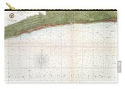 1857 U.s. Coast Survey Map Or Chart Of Mississippi City Harbor, Mississippi Carry-all Pouch