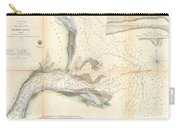 1857 U.s. Coast Survey Map Or Chart Of The Mouth Of St. Johns River, Florida Carry-all Pouch