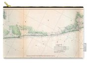 1857 U.s. Coast Survey Triangulation Map Of Matagorda Bay To Galveston Bay, Texas Carry-all Pouch