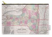1858 Smith - Disturnell Pocket Map Of New York Carry-all Pouch