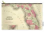 1864 Florida Map Color Carry-all Pouch