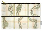 1865 Us Coast Survey Map Of The Mississippi River From Cairo Il To St Marys Mo  Carry-all Pouch