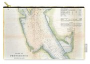 1865 Us Coast Survey Map Or Chart Of Providence Rhode Island Carry-all Pouch