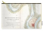 1865 Uscs Map Of The Mississippi River From Cairo Illinois To St Marys Missouri  Carry-all Pouch
