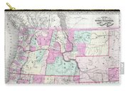 1866 Colton Map Of Oregon Washington Idaho And Montana W Wyoming Carry-all Pouch