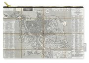 1866 Fornari Pocket Map Or Case Map Of Rome Italy Carry-all Pouch